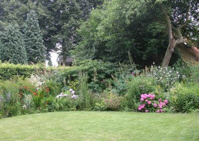 Tuin (hof)  met zicht op het terras van de B&B.