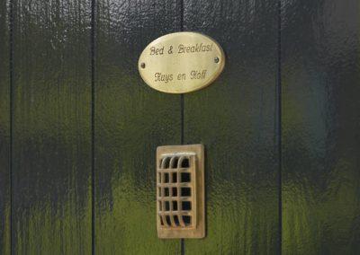 Detail van de voordeur